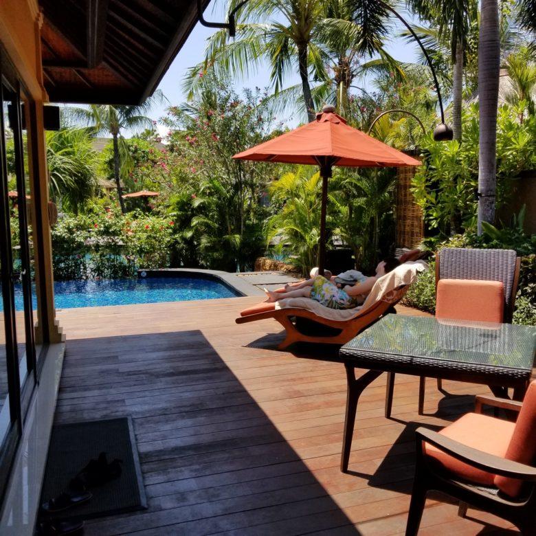 セントレジスバリ バリ島 最高級ホテル SPGアメックス ポイント 無料宿泊 マリオット ラグーンヴィラ テラス プール