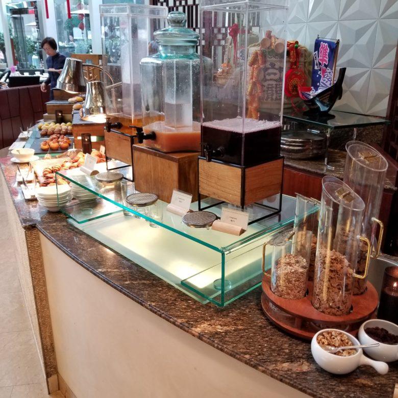 コンラッド香港の朝食のジュース