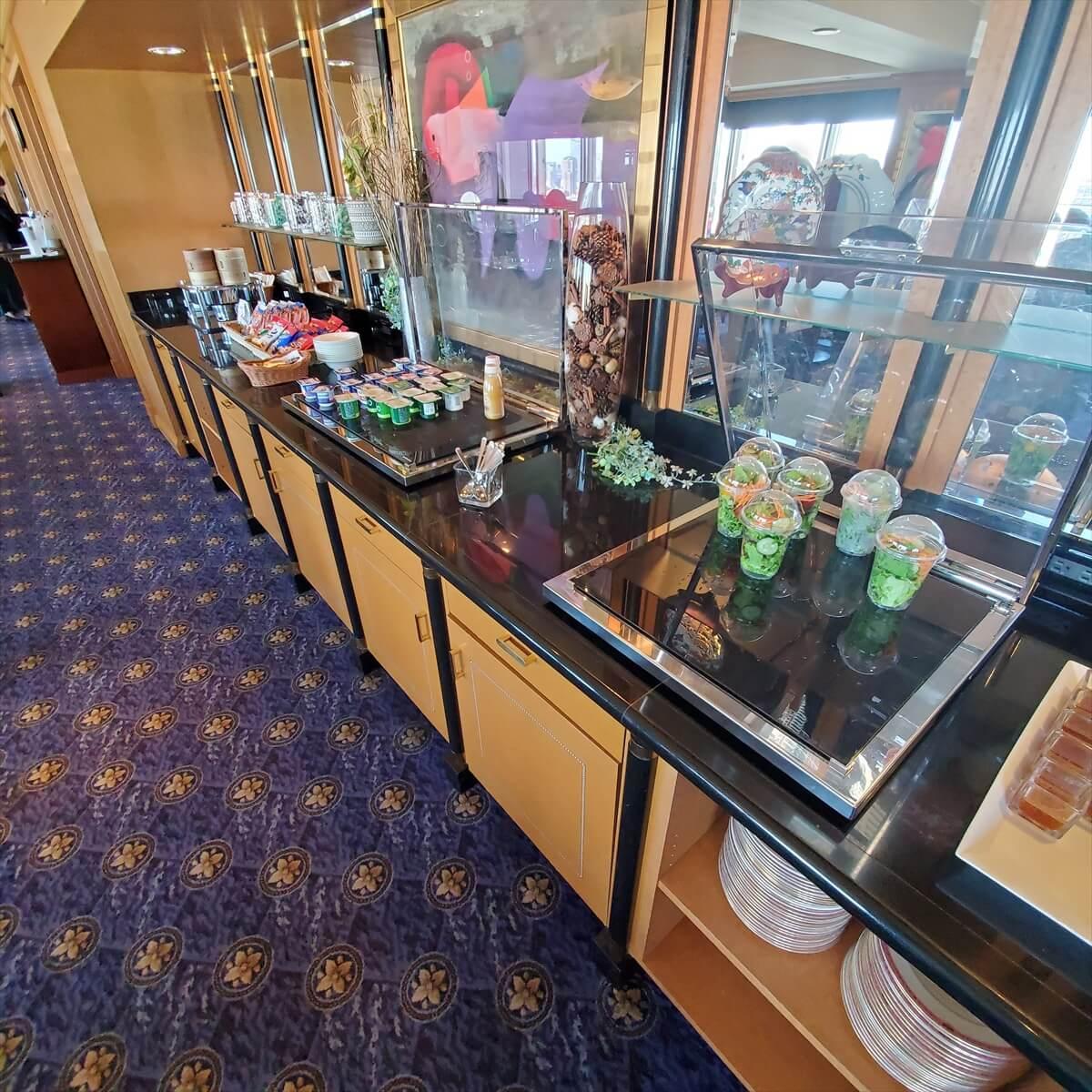 ウェスティンホテル東京のクラブラウンジ「ウェスティンクラブ」の朝食のビュッフェコーナー